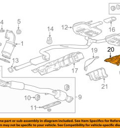 details about gm oem exhaust heat shield right 22766781 [ 1000 x 798 Pixel ]