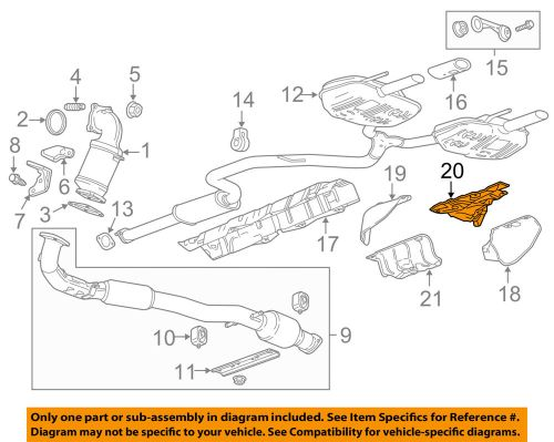 small resolution of details about gm oem exhaust heat shield right 22766781