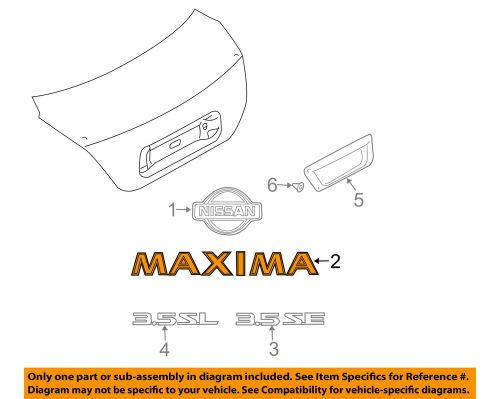 small resolution of details about nissan oem 04 08 maxima trunk lid emblem badge nameplate 848947y000
