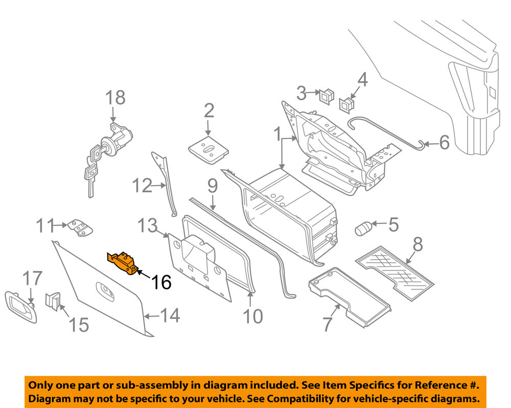 medium resolution of details about nissan oem 04 15 titan storage compartment latch 93735zh40a