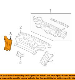 details about acura honda oem 04 08 tsx rear body gusset right 66511sea000zz [ 1000 x 798 Pixel ]
