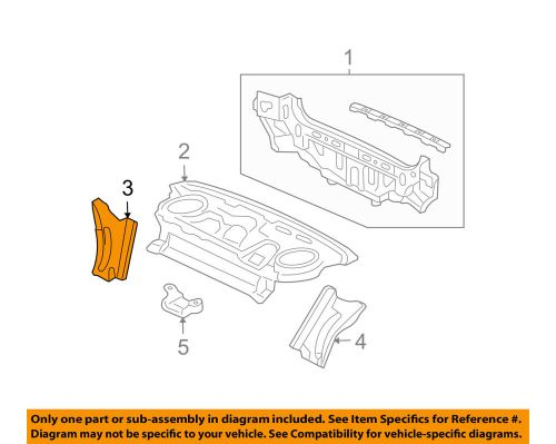 small resolution of details about acura honda oem 04 08 tsx rear body gusset right 66511sea000zz