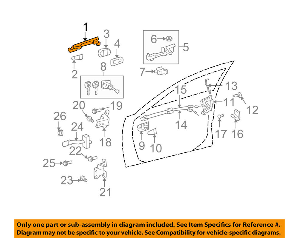 hight resolution of details about toyota oem 09 15 venza outside exterior door handle 692100t020a0