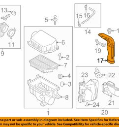 details about kia oem 12 16 rio air cleaner intake inlet duct hose tube 282101w110 [ 1000 x 798 Pixel ]