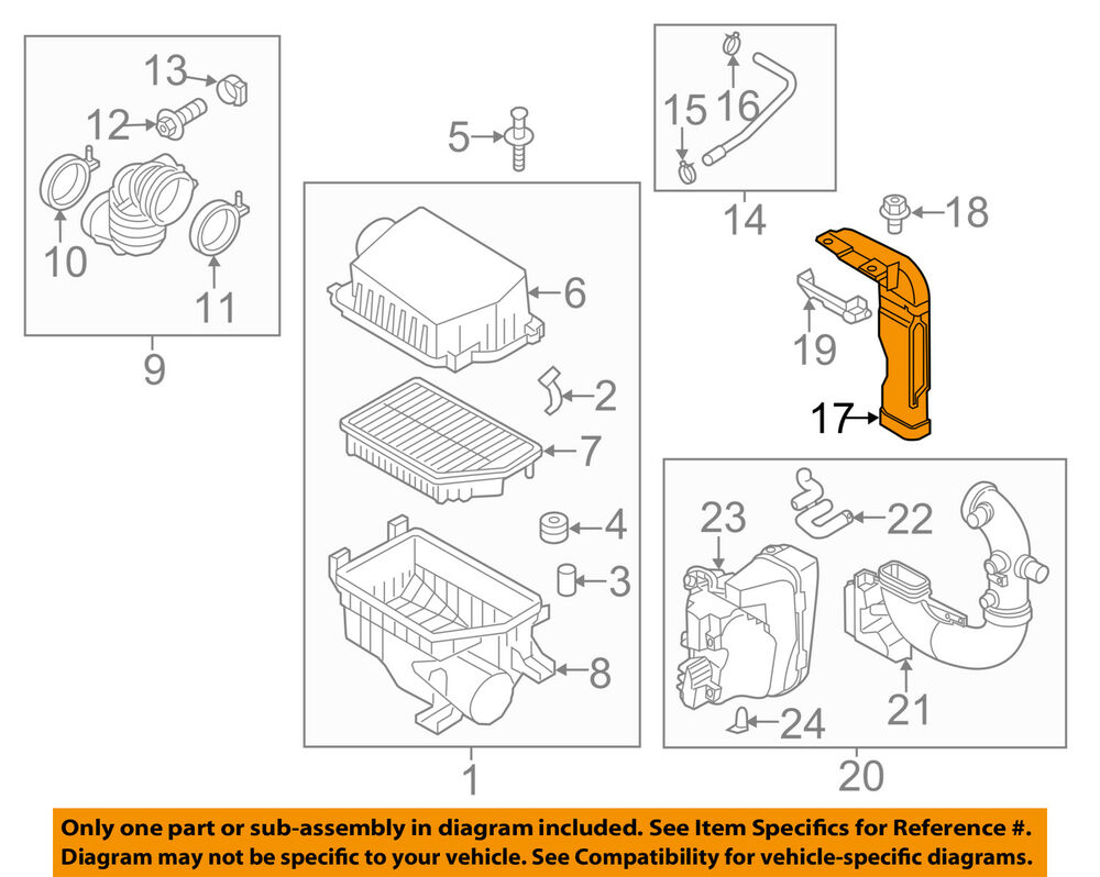 hight resolution of details about kia oem 12 16 rio air cleaner intake inlet duct hose tube 282101w110
