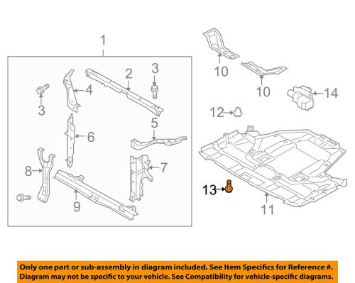 small resolution of details about subaru oem 03 16 forester splash shield under cover bolt 901000365