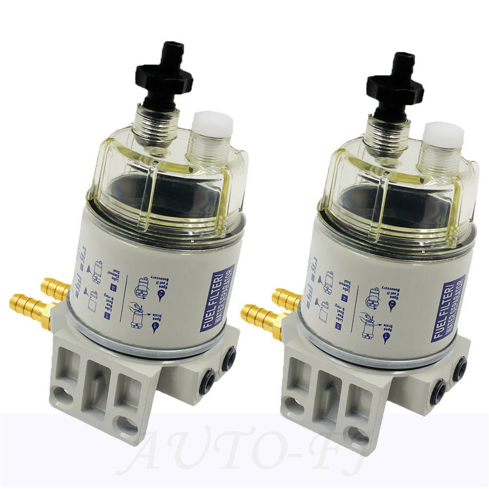 hight resolution of details about 2pcs diesel fuel filter water separator r12t for marine spin on housing 120at