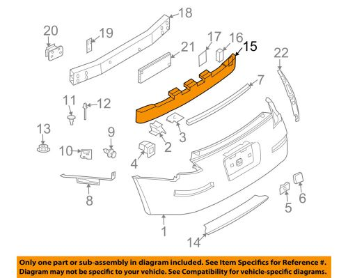 small resolution of details about nissan oem 03 09 350z bumper face foam impact absorber bar 85090cd000