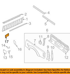 details about nissan oem 05 16 frontier rear fender panel bed air guide 76804ea800 [ 1000 x 798 Pixel ]