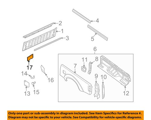 small resolution of details about nissan oem 05 16 frontier rear fender panel bed air guide 76804ea800