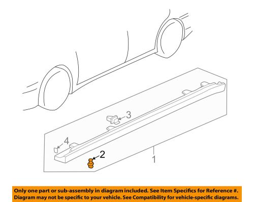 small resolution of details about honda oem exterior rocker molding clip 90505sm4003