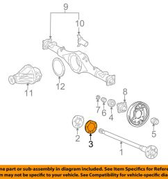 details about toyota oem 95 04 tacoma axle differential rear oil deflector gasket 4244355020 [ 1000 x 798 Pixel ]