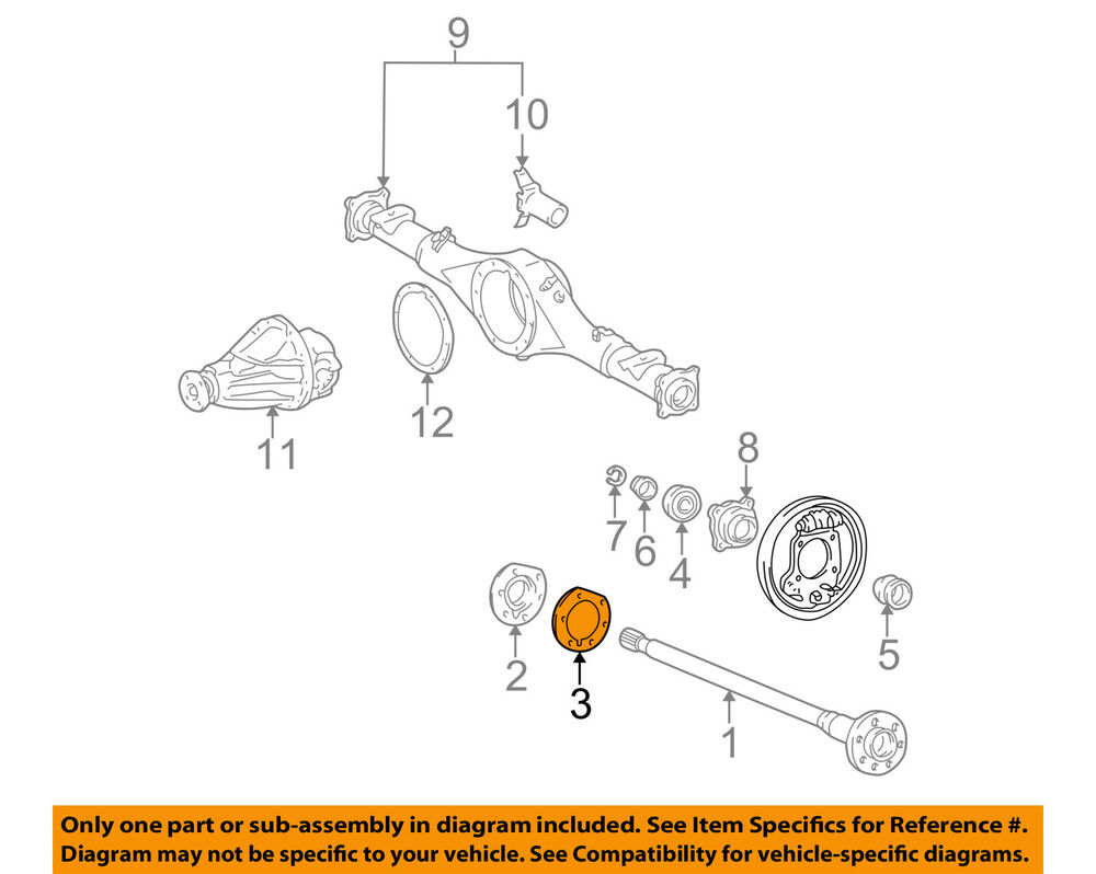 hight resolution of details about toyota oem 95 04 tacoma axle differential rear oil deflector gasket 4244355020