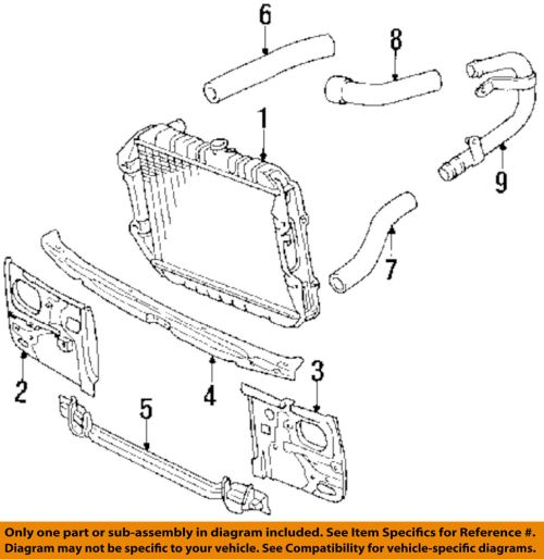 small resolution of details about toyota oem 89 95 pickup 2 4l l4 radiator crossmember 5710489109