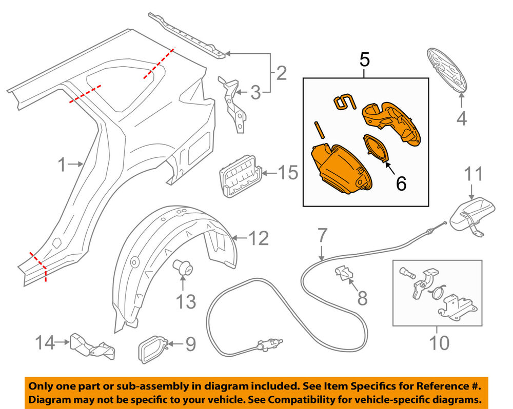 hight resolution of details about subaru oem 15 16 outback fuel tank filler neck tube pipe 51478al00c