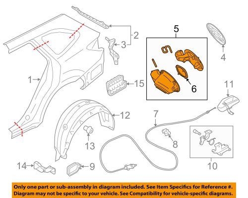 small resolution of details about subaru oem 15 16 outback fuel tank filler neck tube pipe 51478al00c