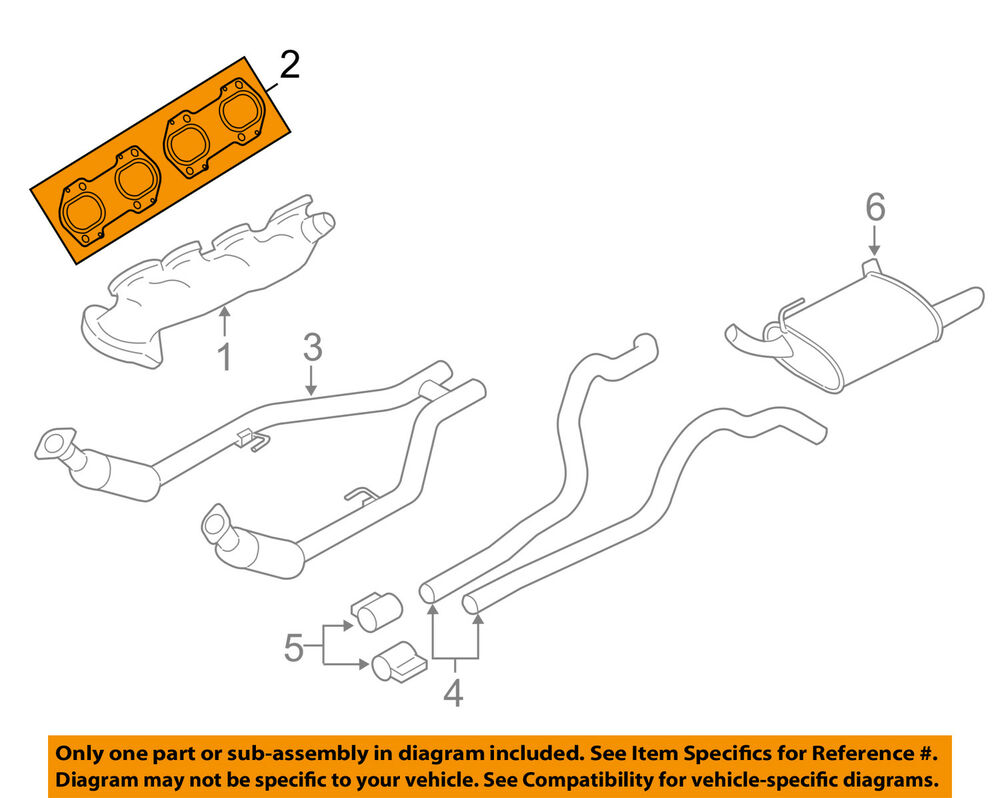 hight resolution of ford oem exhaust manifold gasket 9l2z9448b ebay ford exhaust manifold diagram