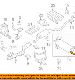 details about nissan oem 10 14 murano 3 5l v6 exhaust system tailpipe extension 200801aa2a [ 1000 x 798 Pixel ]