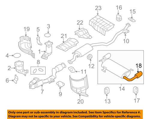small resolution of details about nissan oem 10 14 murano 3 5l v6 exhaust system tailpipe extension 200801aa2a