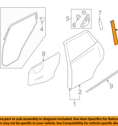 details about nissan oem 11 17 juke exterior rear black out tape right 828161ka0a [ 1000 x 798 Pixel ]