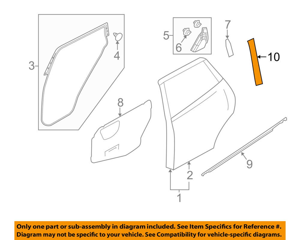 hight resolution of details about nissan oem 11 17 juke exterior rear black out tape right 828161ka0a
