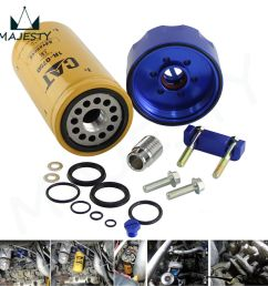 diesel cat fuel filter adapter and seal kit for 01 16 gm chevy duramax 6 6l blue 843401125558 ebay [ 900 x 900 Pixel ]