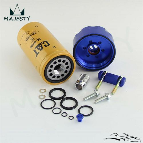 small resolution of diesel cat fuel filter adapter and seal kit for 01 16 gm chevy duramax 6 6l blue 843401125558 ebay
