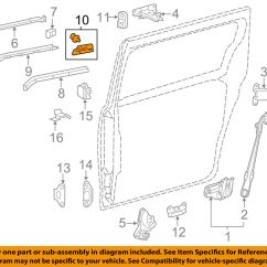 Door Hardware Diagram Contactor Wiring Toyota Oem Sienna Side Sliding End Cap Molding Left Details About 6837408020