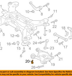 details about ford oem rear suspension lower control arm bolt w716992s439 [ 1000 x 798 Pixel ]