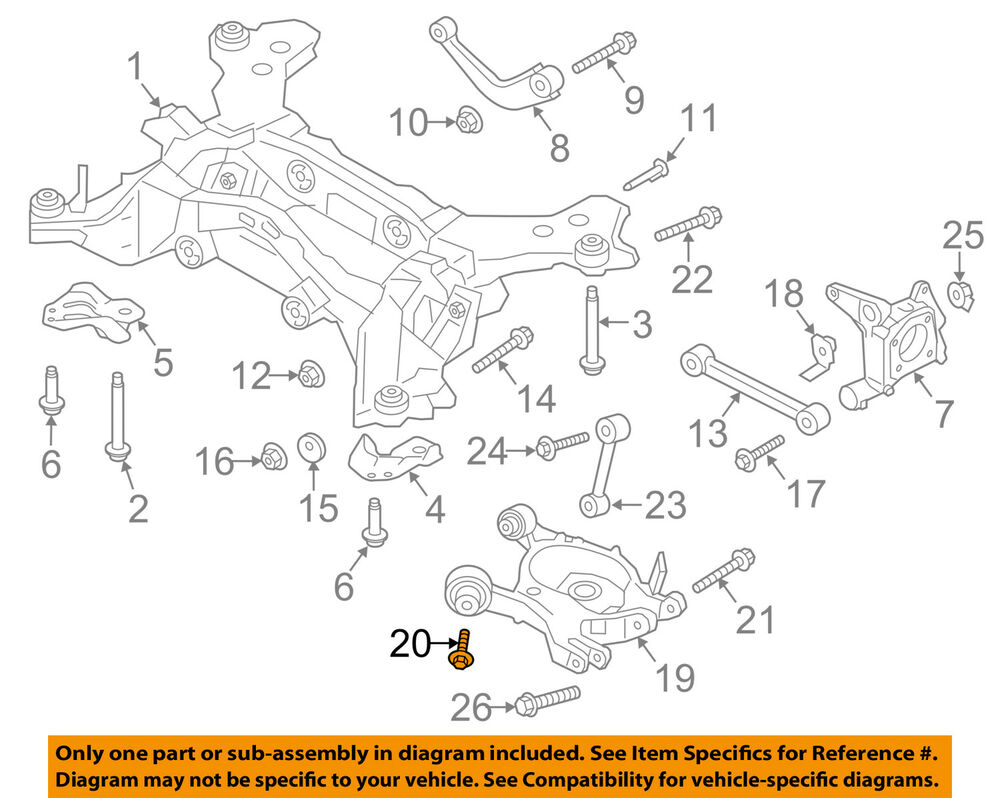 hight resolution of details about ford oem rear suspension lower control arm bolt w716992s439