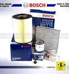 service kit for ford focus mk2 2 0 tdci bosch oil air fuel filters 2007 2010 service kits [ 1000 x 1000 Pixel ]