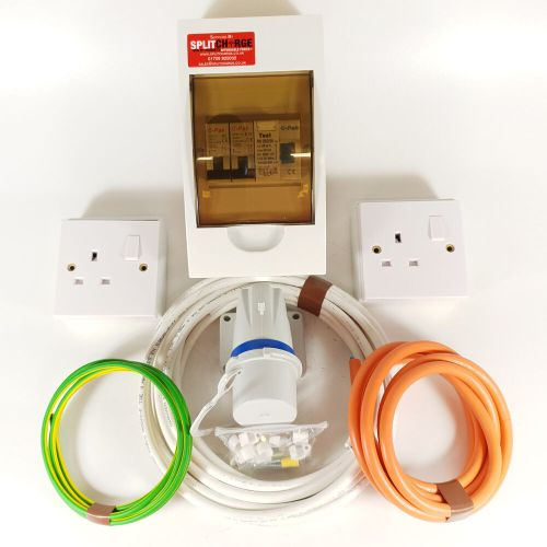 small resolution of details about 240v mains electric hook up installation kit t2 t4 t5 van campervan motorhome