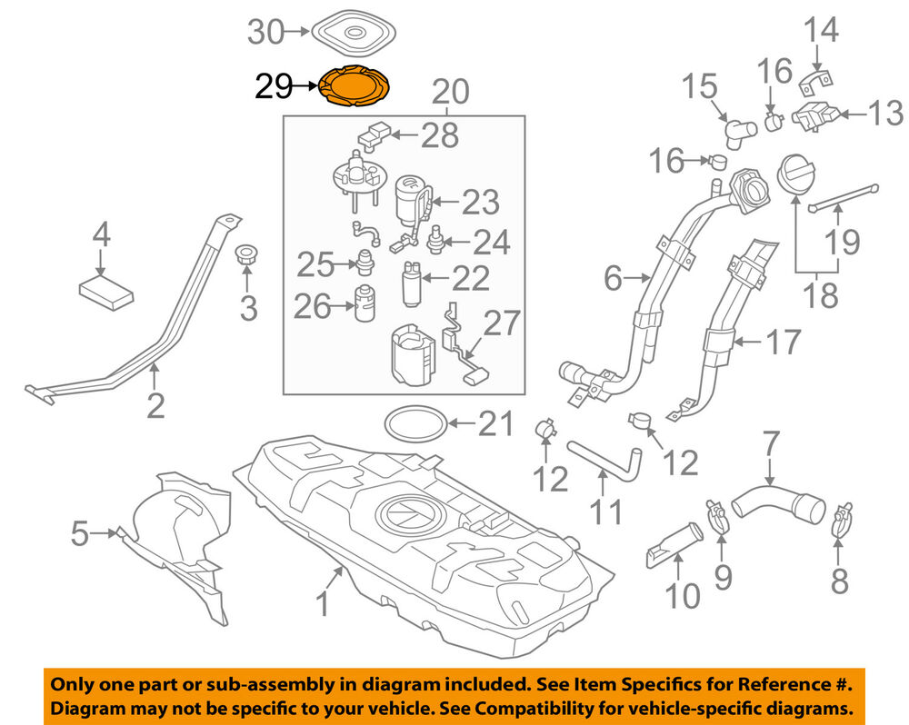 hight resolution of details about kia oem 12 17 rio 1 6l l4 fuel system lock ring 311583x500