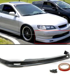details about fits 98 02 accord 2dr coupe mu gen style pu front bumper chin lip body kit [ 935 x 935 Pixel ]