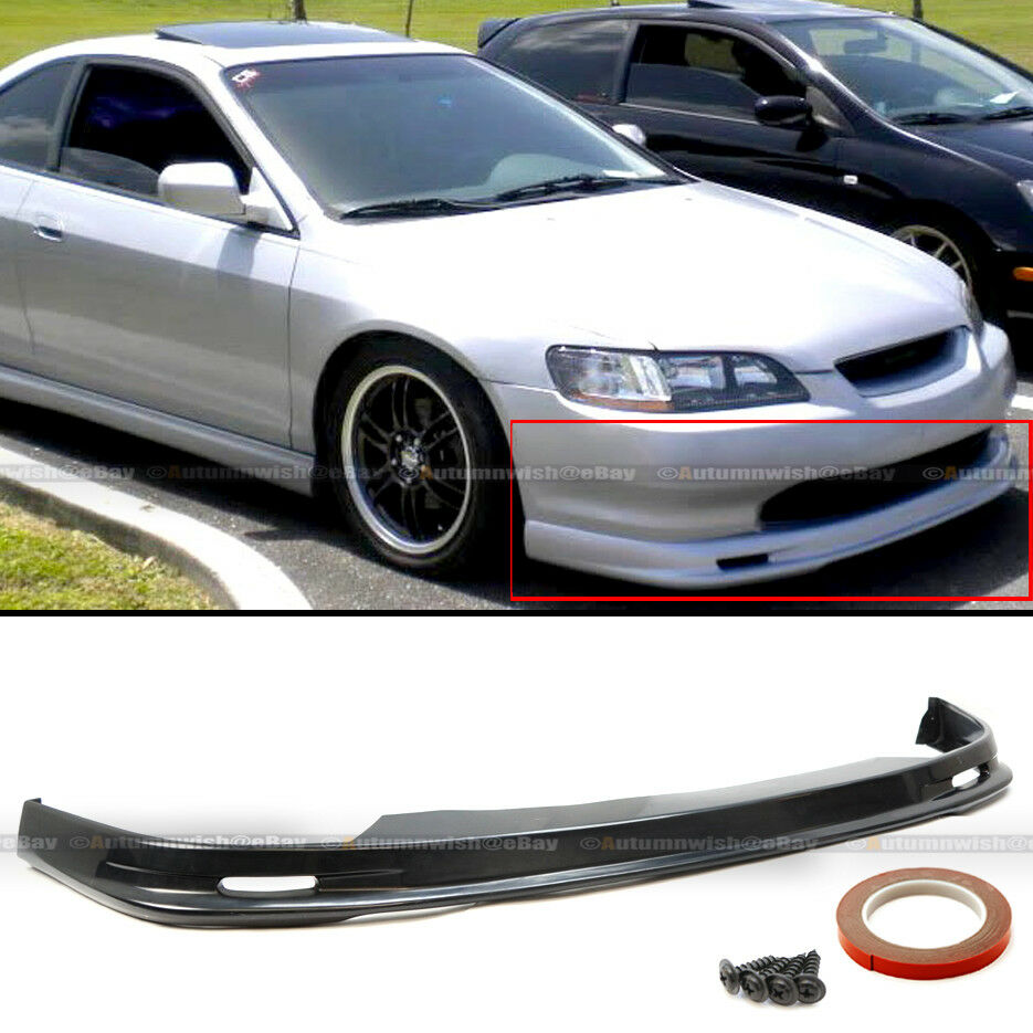 hight resolution of details about fits 98 02 accord 2dr coupe mu gen style pu front bumper chin lip body kit