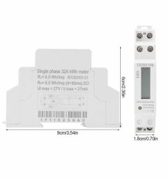 digital 220v single phase din rail electric meter electronic kwhdetails about digital 220v single phase din [ 1000 x 1000 Pixel ]