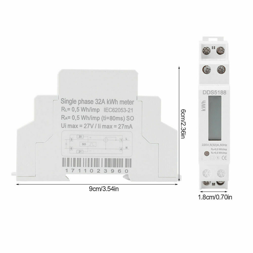 medium resolution of digital 220v single phase din rail electric meter electronic kwhdetails about digital 220v single phase din