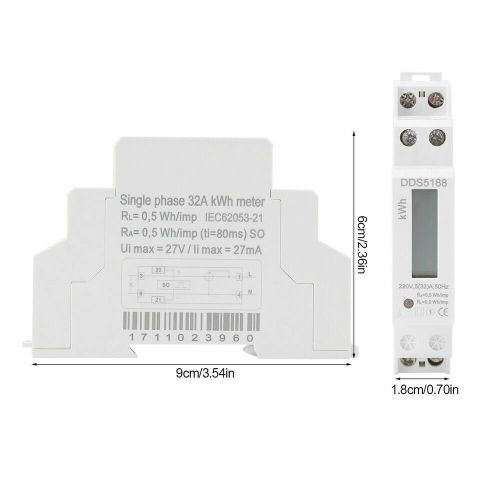 small resolution of digital 220v single phase din rail electric meter electronic kwhdetails about digital 220v single phase din