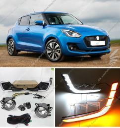 details about for suzuki swift 2017 2019 led drl daytime running lamp fog lights harness kit [ 1000 x 1000 Pixel ]