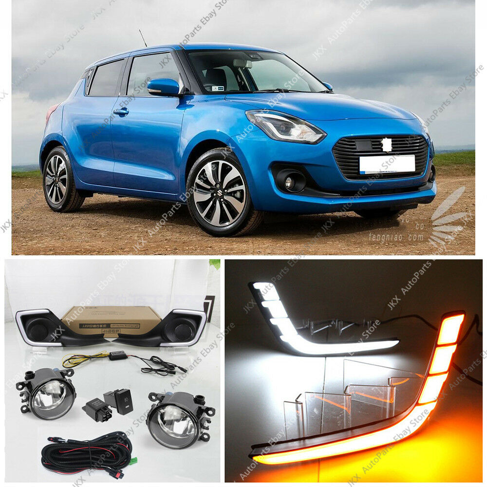 medium resolution of details about for suzuki swift 2017 2019 led drl daytime running lamp fog lights harness kit