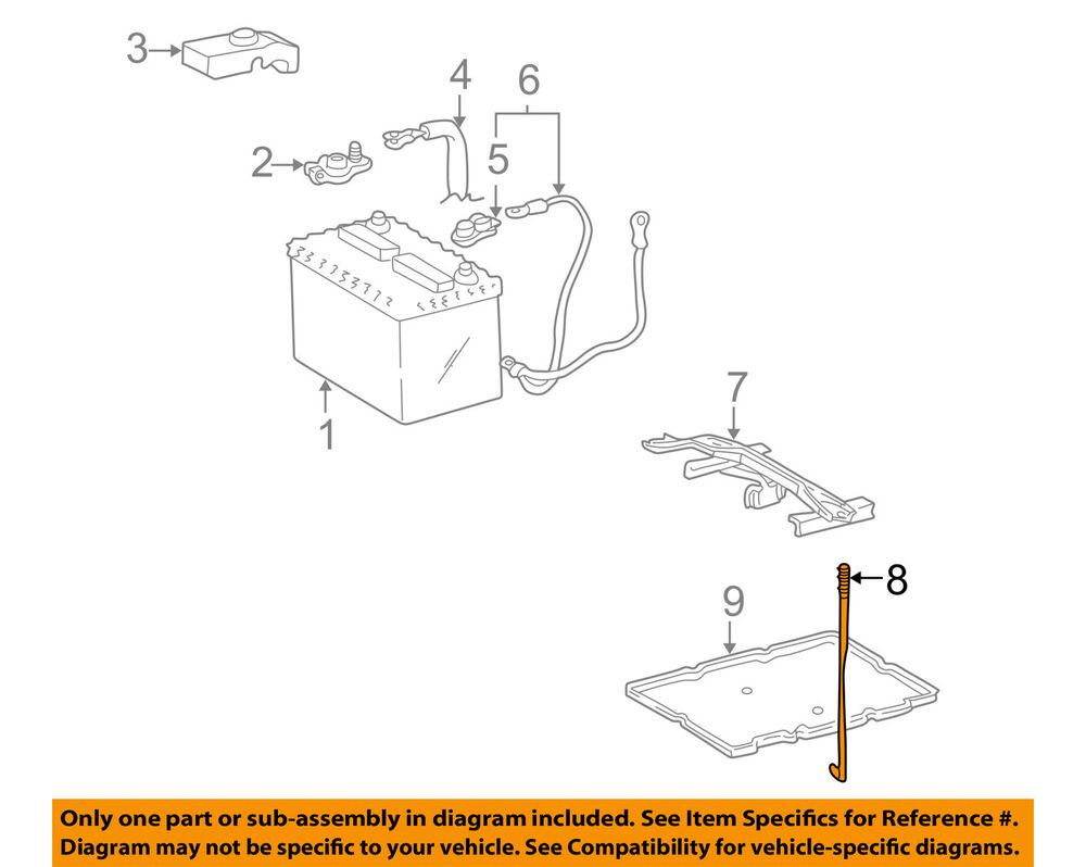 medium resolution of details about toyota oem battery hold down bracket clamp tie bolt 7445133010