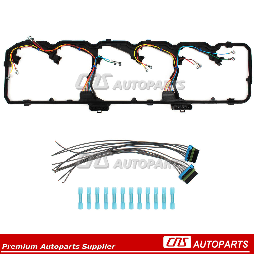 hight resolution of details about fits dodge ram ford 5 9l 6 7l cummins diesel valve cover gasket w wire harness