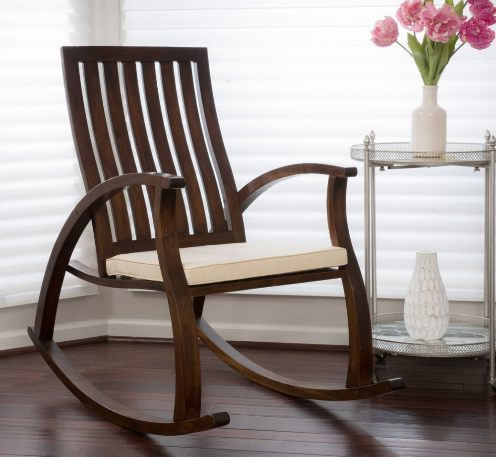 wooden rocking chairs nursery walmart outdoor lounge chair rocker baby solid wood details about new
