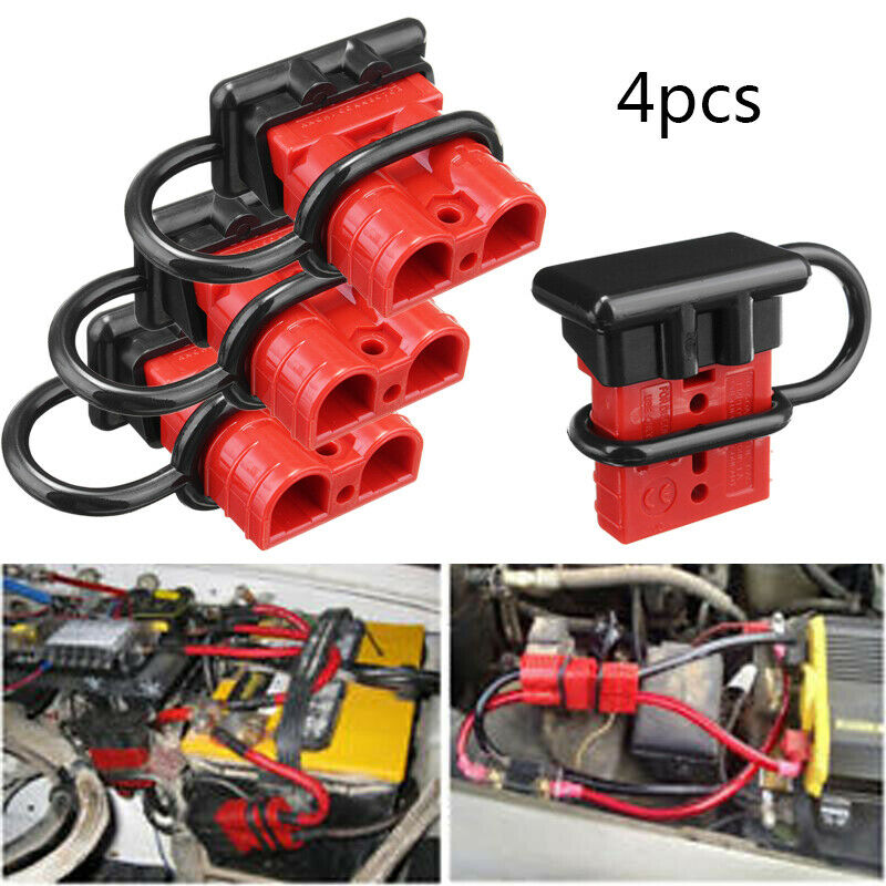 hight resolution of details about 4pcs 12v auto car battery quick connect disconnect 6awg plug winch connector 50a