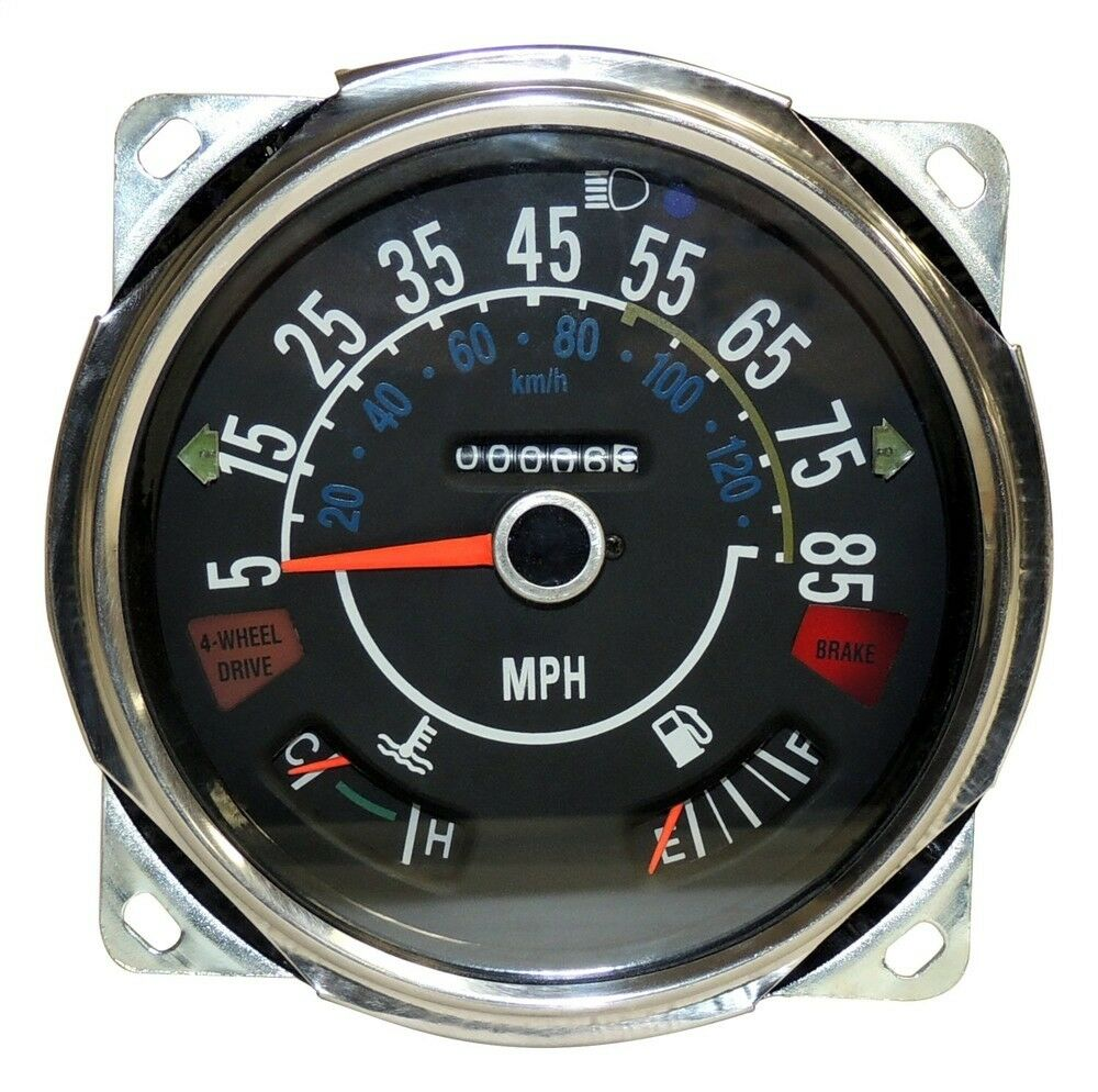 hight resolution of speedometer gauge assembly mph for jeep cj 1980 1986 crown j5761110