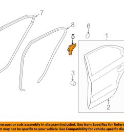 details about hyundai oem 11 15 sonata rear door frame cover right 832803s000ry [ 1000 x 798 Pixel ]