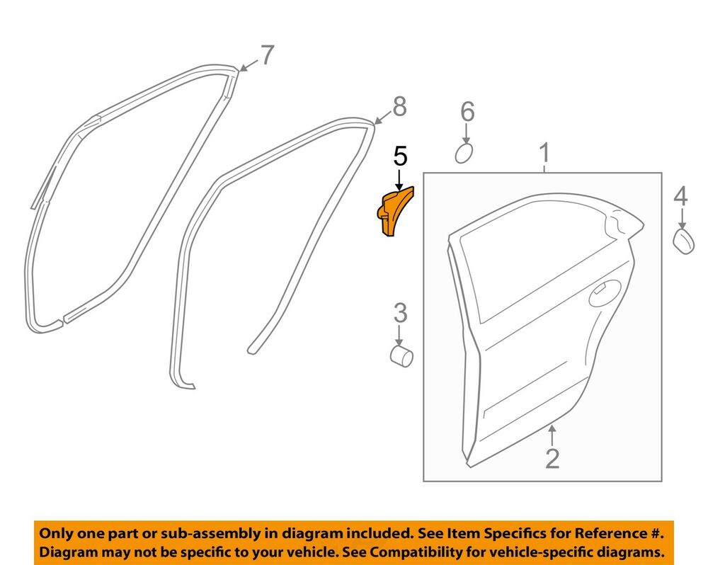 medium resolution of details about hyundai oem 11 15 sonata rear door frame cover right 832803s000ry