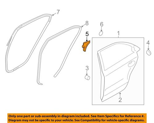 small resolution of details about hyundai oem 11 15 sonata rear door frame cover right 832803s000ry