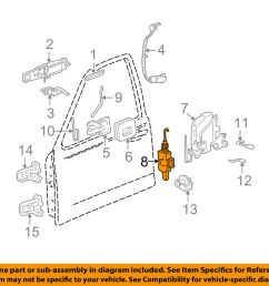 details about lincoln ford oem 98 03 town car front door lock actuator motor 2w1z54218a42a [ 1000 x 798 Pixel ]