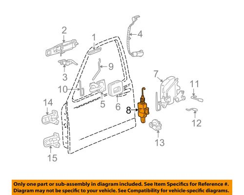 small resolution of details about lincoln ford oem 98 03 town car front door lock actuator motor 2w1z54218a42a